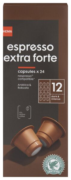 koffiecups espresso extra forte - 24 stuks - 17180007 - HEMA