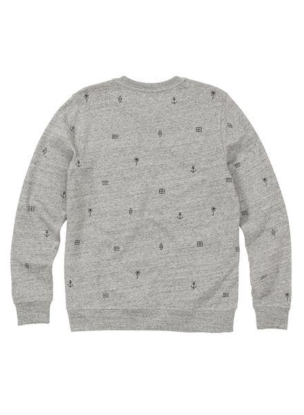 herensweater grijs grijs - 1000011429 - HEMA