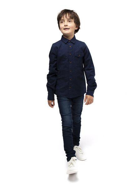 kinderblouse donkerblauw donkerblauw - 1000017022 - HEMA