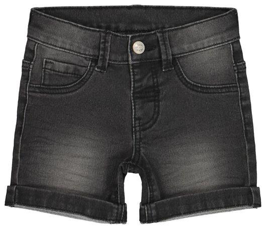 baby jogdenim short zwart zwart - 1000017831 - HEMA