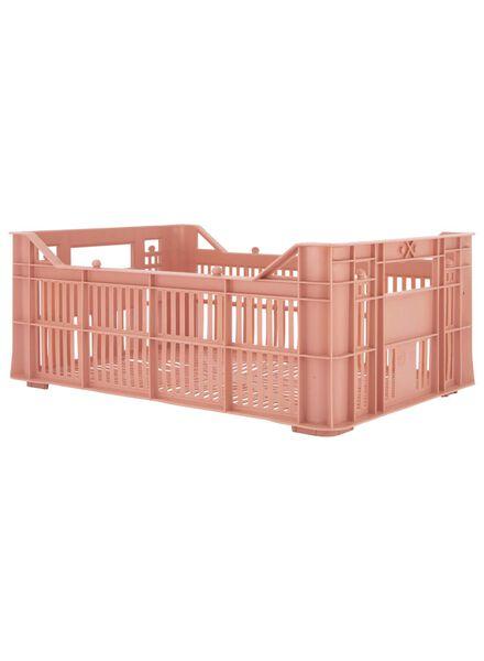 opbergkrat - 30 x 20 x 11 - gerecycled roze roze 30 x 20 x 11 - 39892922 - HEMA