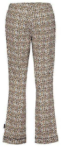 B.A.E. dames pyjamabroek flanel bruin bruin - 1000021722 - HEMA