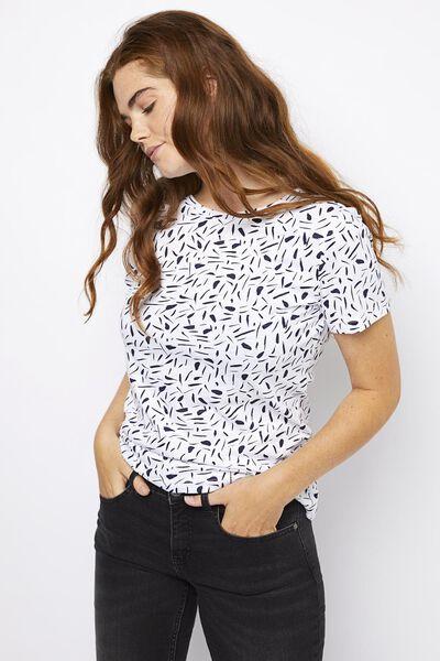 dames t-shirt wit wit - 1000021351 - HEMA