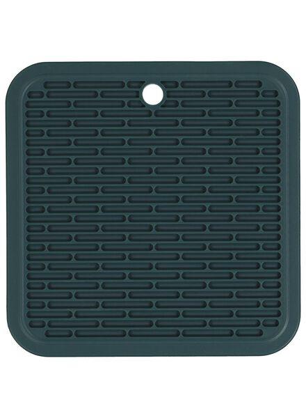 pannenlap - 17 x 17 - siliconen - donkergroen - 5400119 - HEMA