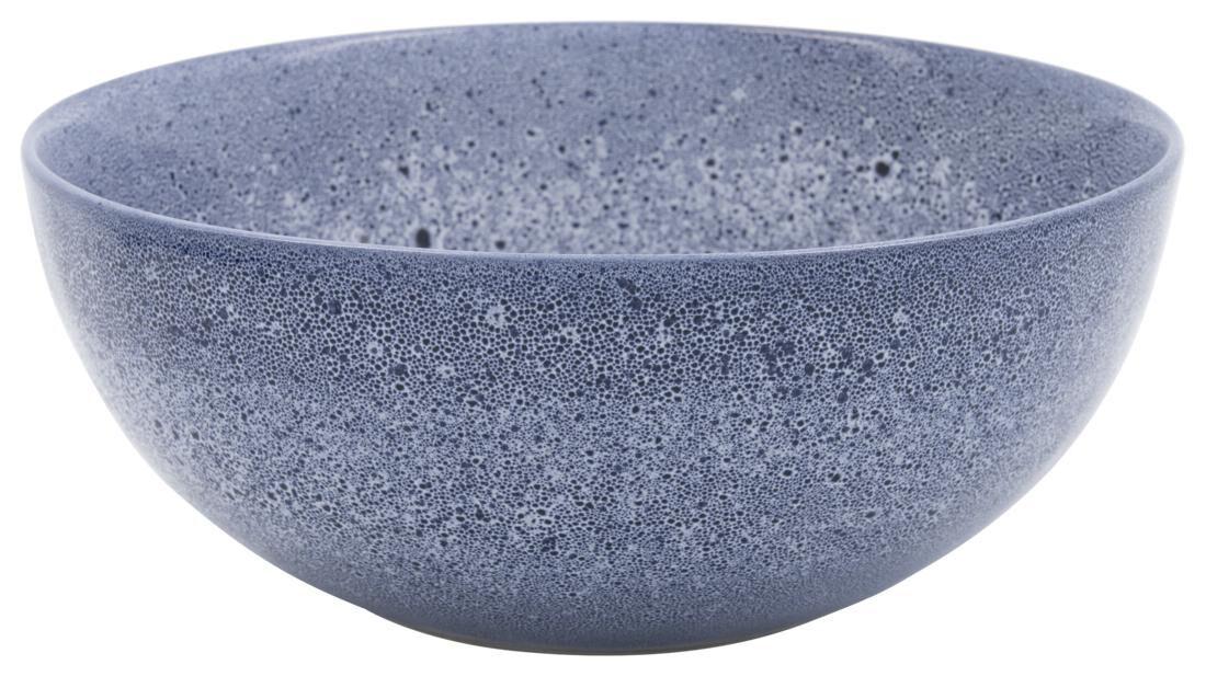 HEMA Saladeschaal 26cm Porto Reactief Glazuur Wit/blauw