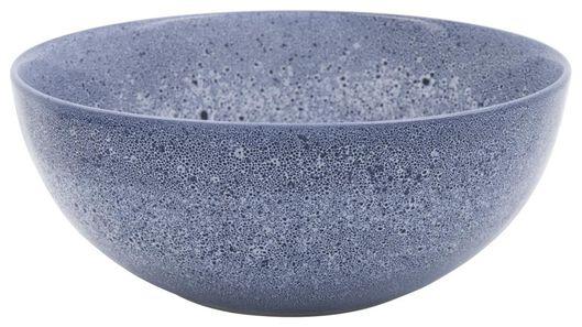 saladeschaal 26cm Porto reactief glazuur wit/blauw - 9602257 - HEMA