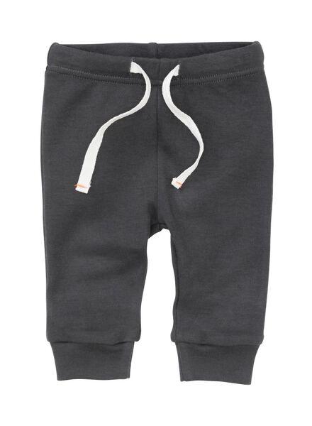 2-pak newborn broeken biologisch katoen grijs - 1000005702 - HEMA