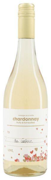 message on a bottle chardonnay - 0,75 L - 17377512 - HEMA