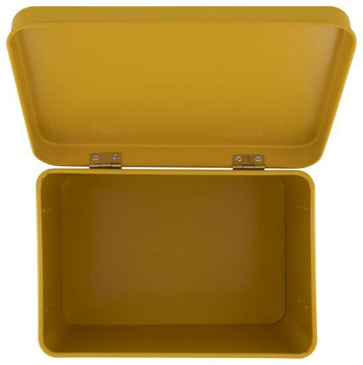 medicijnbox 15.5x22.5x16 okergeel - 80300145 - HEMA
