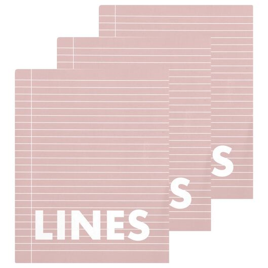 Schriften roze A5 gelinieerd - 3 stuks - in Schriften