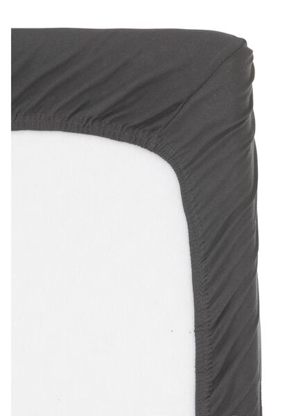hoeslaken topmatras - jersey katoen - 90 x 200 cm - donkergrijs donkergrijs 90 x 200 - 5100159 - HEMA