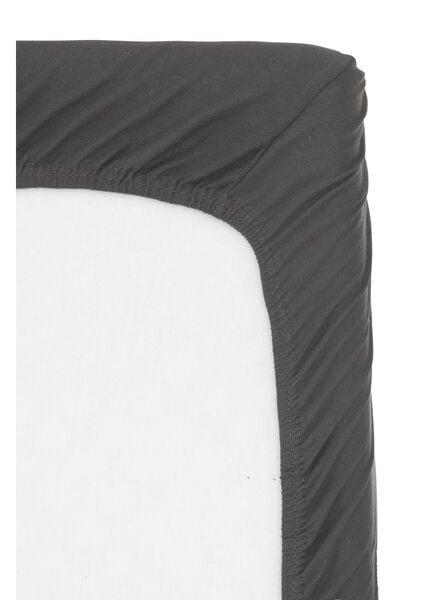 hoeslaken topmatras - jersey katoen - 160 x 200 cm - grijs - 5100161 - HEMA