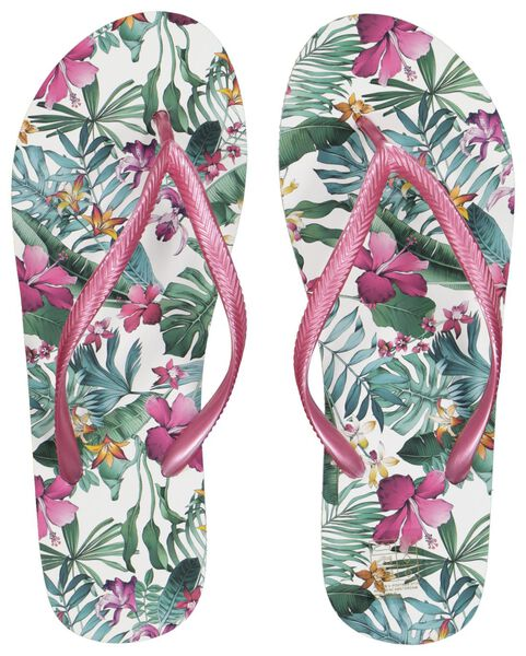 dames teenslippers wit wit - 1000018089 - HEMA