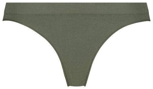 damesslip rib naadloos groen - 1000021763 - HEMA