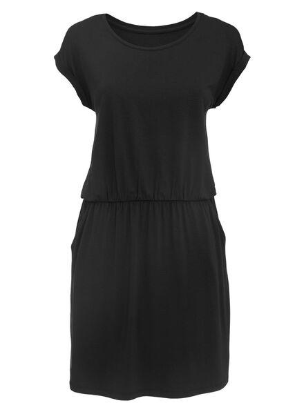dames jurk zwart zwart - 1000007749 - HEMA