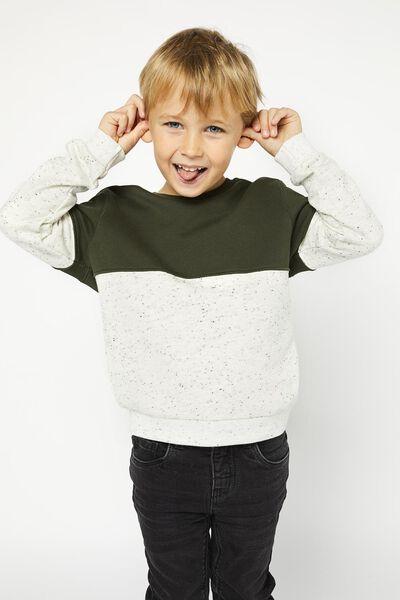 kindersweater structuur legergroen legergroen - 1000020841 - HEMA