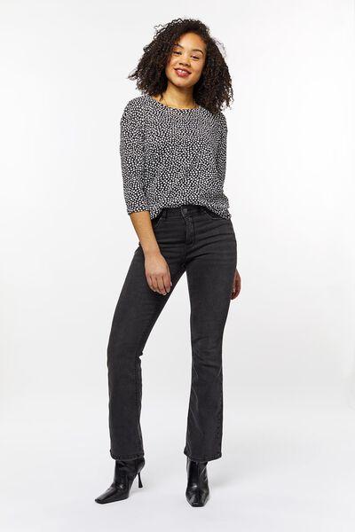 dames t-shirt stip zwart zwart - 1000023731 - HEMA