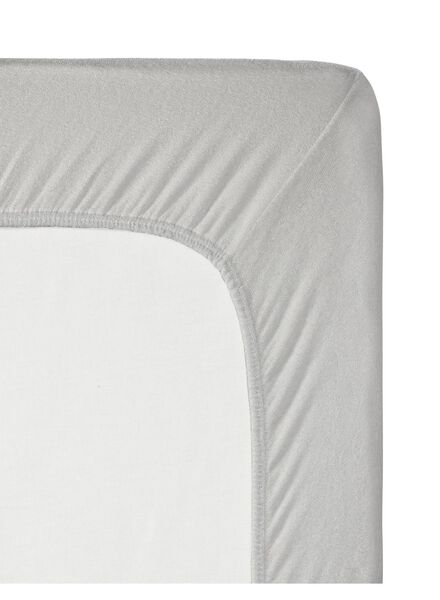 hoeslaken topmatras - jersey katoen - 90 x 200 cm - lichtgrijs - 5140086 - HEMA