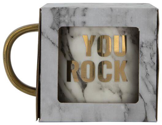 mok Ø9cm 'you rock' - 61122301 - HEMA