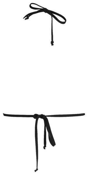 dames padded triangle bikinitop zwart zwart - 1000017937 - HEMA