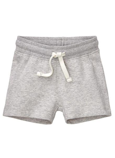 baby sweatshort grijsmelange grijsmelange - 1000013026 - HEMA