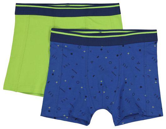 2-pak kinderboxers blauw blauw - 1000018437 - HEMA