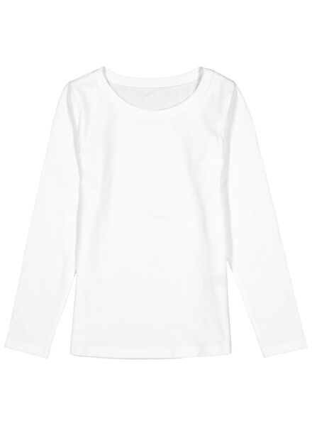 2-pak kinder t-shirts - biologisch katoen wit wit - 1000013796 - HEMA