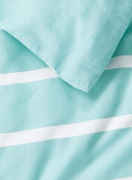 dekbedovertrek - katoen - 140 x 200 cm - groen streep - 5700079 - HEMA