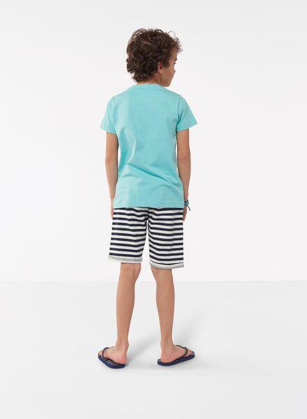 kinder t-shirt blauw blauw - 1000013111 - HEMA