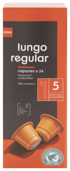 koffiecups lungo regular- 24 stuks - 17180002 - HEMA
