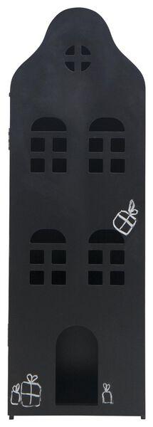 Grachtenpand hout zwart krijtbord 24.5x25x75 - 15130037 - HEMA