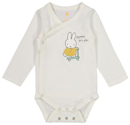 newborn overslagromper - nijntje - organic katoen stretch wit wit - 1000019484 - HEMA