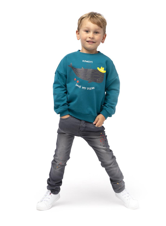HEMA Kinder Jeans Skinny Fit Grijs (grijs)