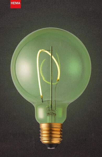 LED lamp 4W - 130 lm - globe - G95 - groen - 20000019 - HEMA