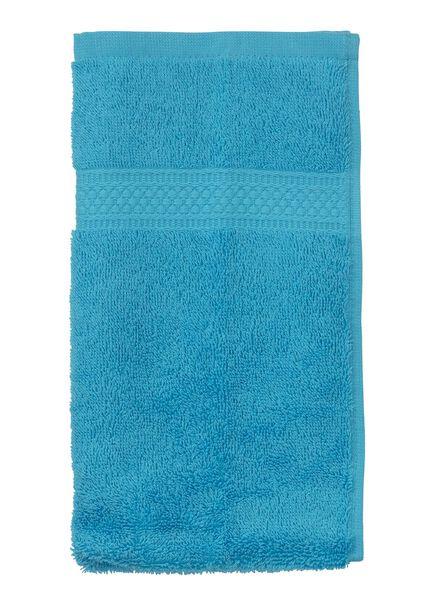 gastendoek - 30 x 55 cm - zware kwaliteit - aqua - 5202605 - HEMA