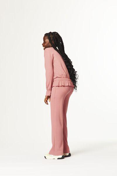 kinder top rib roze roze - 1000024941 - HEMA