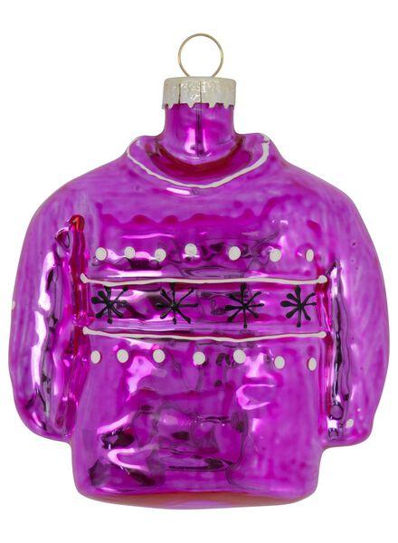 glazen kersthanger trui 4x8x9 - 25104802 - HEMA