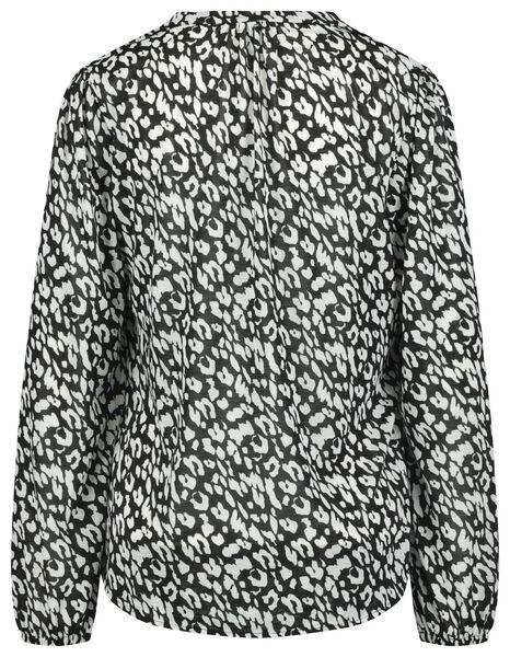 dames top recycled zwart/wit L - 36298073 - HEMA