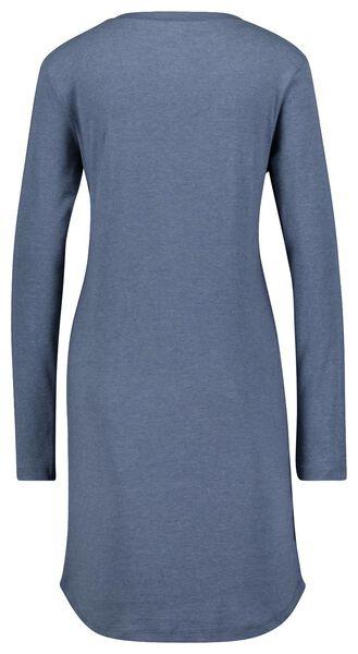 dames nachthemd katoen ribbels blauw blauw - 1000025103 - HEMA