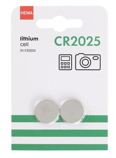 2-pak CR2025 batterijen - 41290276 - HEMA