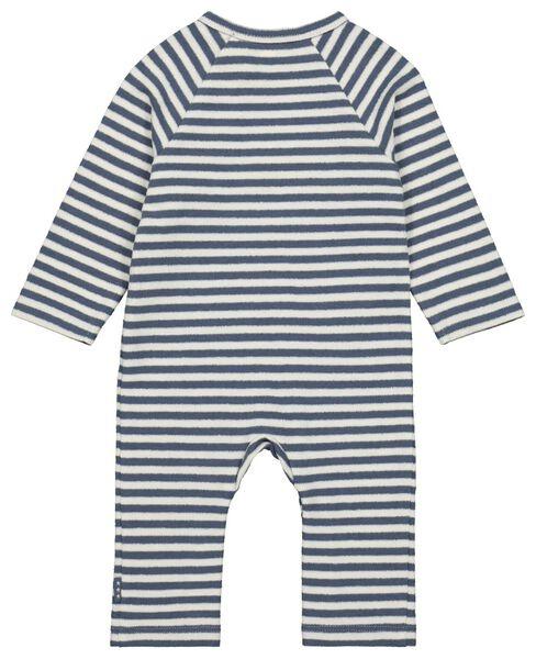 newborn jumpsuit streep badstof katoen donkerblauw donkerblauw - 1000022131 - HEMA