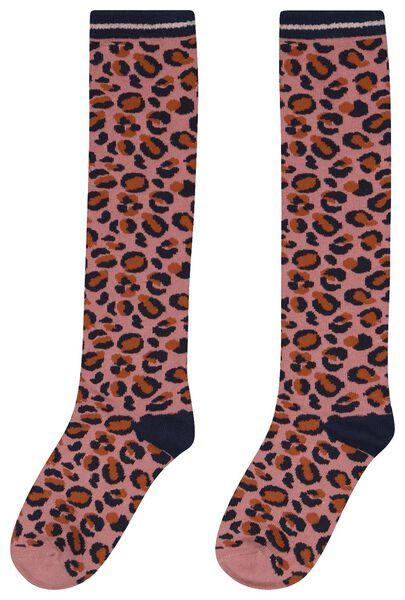 kinder kniesokken leopard roze roze - 1000024591 - HEMA
