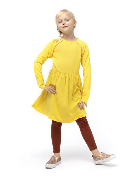 kinderjurk geel geel - 1000014699 - HEMA