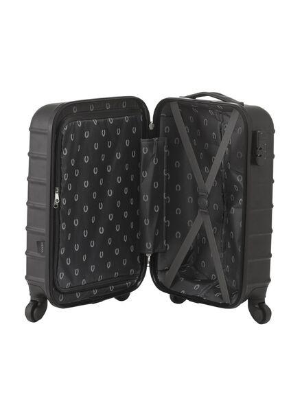 koffer - 55 x 35 x 20 - zwart streep 55 x 35 x 20 zwart - 18600248 - HEMA