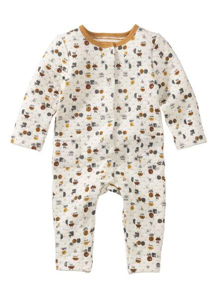 newborn baby jumpsuit - doorgestikt wit wit - 1000013485 - HEMA