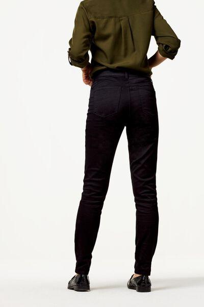 damesbroek skinny fit satin zwart 40 - 36245143 - HEMA