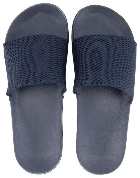 herenslippers donkerblauw donkerblauw - 1000018768 - HEMA
