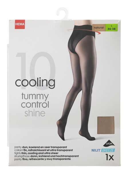 panty glans koelend corrigerend 10 denier naturel naturel - 1000013190 - HEMA