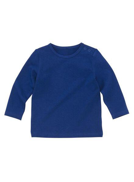 baby t-shirt blauw blauw - 1000008496 - HEMA