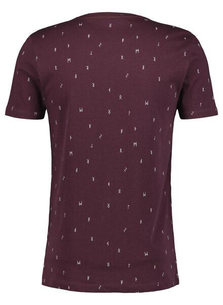 heren t-shirt rood rood - 1000014690 - HEMA